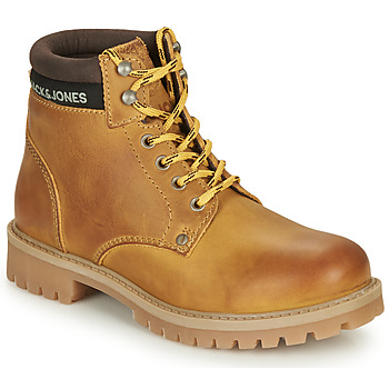 Chaussures Garçon Boots Jack & Jones JR STATTON LEATHER Miel