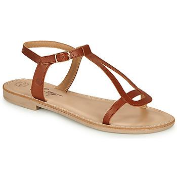 Chaussures Femme Sandales et Nu-pieds Betty London MISSINE Cognac