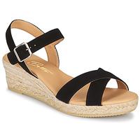 Chaussures Femme Sandales et Nu-pieds Betty London GIORGIA Noir croute