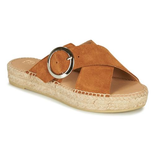 Chaussures Femme Sandales et Nu-pieds Betty London MARIZETTE Cognac