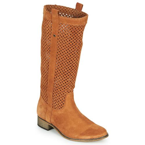 Chaussures Femme Bottes ville Betty London DIVOUI Cognac