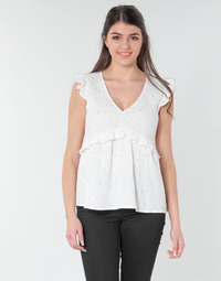Vêtements Femme Tops / Blouses Betty London MOUDINE Blanc / Or