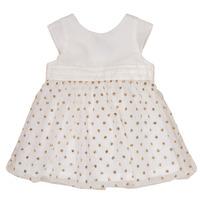 Vêtements Fille Robes courtes Petit Bateau FAVORITE Blanc / Or