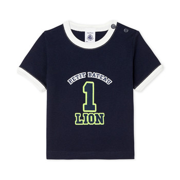 Vêtements Garçon T-shirts manches courtes Petit Bateau FUDGE Bleu