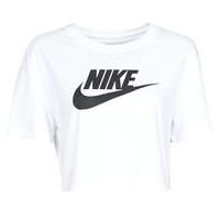 Vêtements Femme T-shirts manches courtes Nike W NSW TEE ESSNTL CRP ICN FTR Blanc / Noir