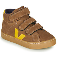Chaussures Enfant Baskets montantes Veja SMALL-ESPLAR-MID Marron / Jaune