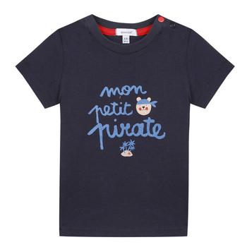 Vêtements Garçon T-shirts manches courtes Absorba NADINE Marine