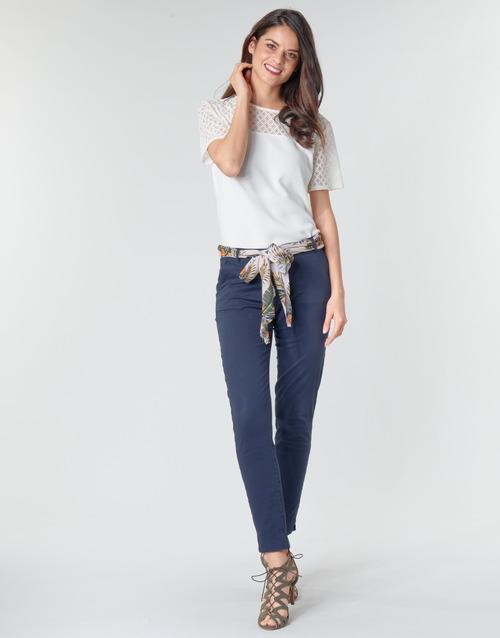Vêtements Femme Pantalons 5 poches Betty London MIRABINE Marine