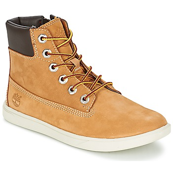 Chaussures Garçon Boots Timberland GROVETON 6IN LACE WITH SIDE ZIP Blé