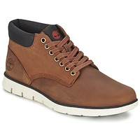 Chaussures Homme Baskets montantes Timberland BRADSTREET CHUKKA LEATHER Red Marron FG