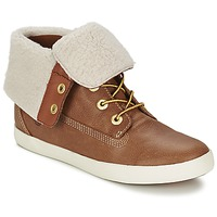 Chaussures Femme Boots Timberland GLASTENBURY FLEECE FOLD DOWN Tan