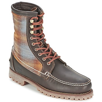 Chaussures Homme Boots Timberland AUTHENTICS 8 IN RUGGED HANDSEWN F/L BOOT Marron foncé / Feutre