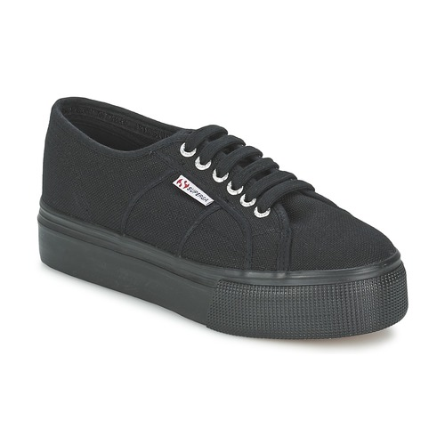 Chaussures Femme Baskets basses Superga 2790 LINEA UP AND Noir