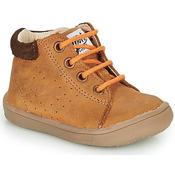 Chaussures Garçon Boots GBB FOLLIO Marron