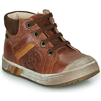 Chaussures Garçon Baskets montantes GBB OLANGO Marron