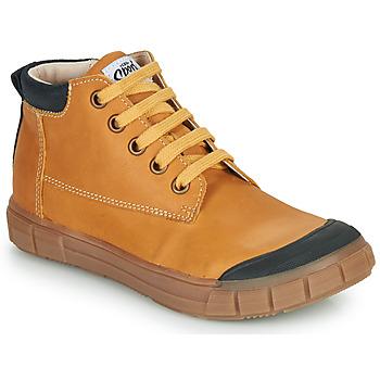 Chaussures Garçon Baskets montantes GBB SHEN Cognac