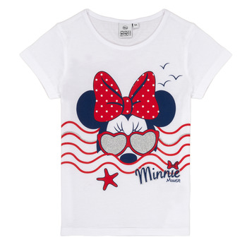 Vêtements Fille T-shirts manches courtes TEAM HEROES MINNIE Blanc