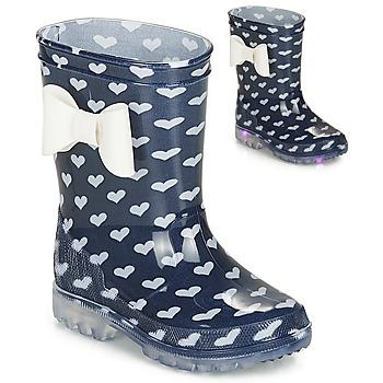 Chaussures Fille Bottes de pluie Be Only AMOUR FLASH Marine