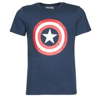 Vêtements Homme T-shirts manches courtes Yurban CAPTAIN AMERICA LOGO Marine