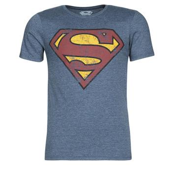 Vêtements Homme T-shirts manches courtes Yurban SUPERMAN LOGO VINTAGE Marine