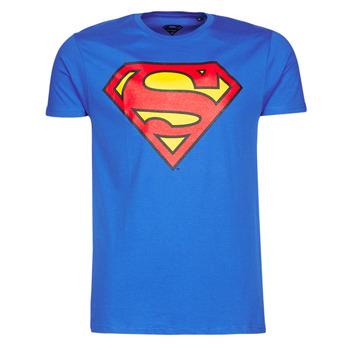 Vêtements Homme T-shirts manches courtes Yurban SUPERMAN LOGO CLASSIC Bleu