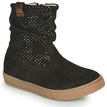 Chaussures Fille Bottes ville GBB KINGA Noir
