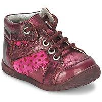 Chaussures Fille Boots Catimini CABILLAUD Rose / Marron