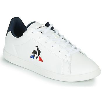 Chaussures Enfant Baskets basses Le Coq Sportif COURTSET GS Blanc / Bleu
