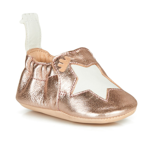 Chaussures Enfant Chaussons Easy Peasy BLUMOO ETOILE Rose Gold