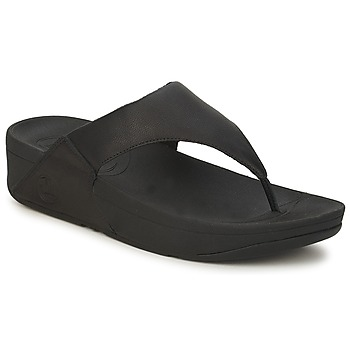 Chaussures Femme Tongs FitFlop LULU LEATHER Noir