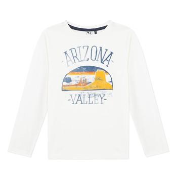 Vêtements Garçon T-shirts manches longues 3 Pommes 3R10005-19-C Blanc