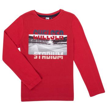 Vêtements Garçon T-shirts manches longues 3 Pommes 3R10015-37-C Rouge