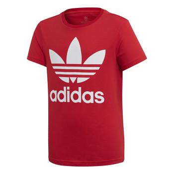 Vêtements Enfant T-shirts manches courtes adidas Originals TREFOIL TEE Rouge