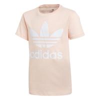 Vêtements Fille T-shirts manches courtes adidas Originals TREFOIL TEE Rose