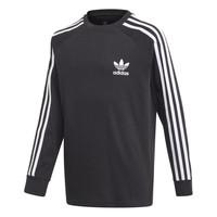 Vêtements Garçon T-shirts manches longues adidas Originals 3STRIPES LS Noir