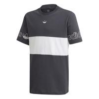 Vêtements Garçon T-shirts manches courtes adidas Originals PANEL TEE Gris / Blanc