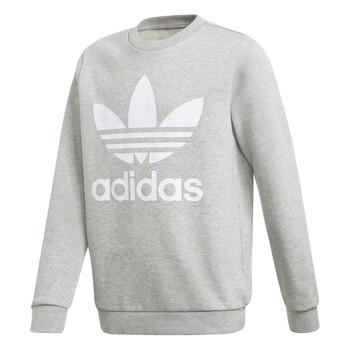 Vêtements Garçon Sweats adidas Originals TREFOIL CREW Gris