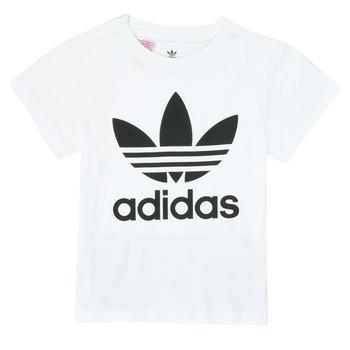 Vêtements Enfant T-shirts manches courtes adidas Originals TREFOIL TEE Blanc