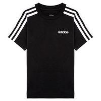 Vêtements Garçon T-shirts manches courtes adidas Performance YB E 3S TEE Noir