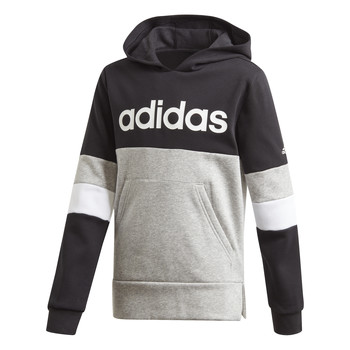 Vêtements Garçon Sweats adidas Performance YB LIN CB HD FL Noir / Gris