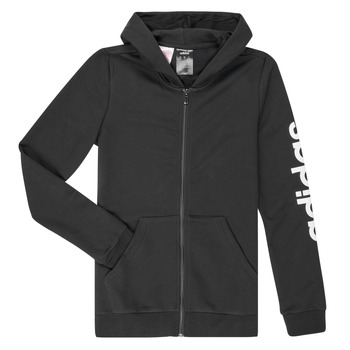 Vêtements Fille Sweats adidas Performance YG E LIN FZ HD Noir