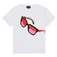 Vêtements Fille T-shirts manches courtes Emporio Armani 6H3T7T-3J2IZ-0100 Blanc