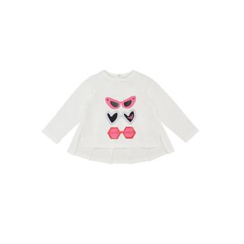 Vêtements Fille T-shirts manches longues Emporio Armani 6HEM01-3J2IZ-0101 Blanc