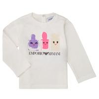 Vêtements Fille T-shirts manches longues Emporio Armani 6HET02-3J2IZ-0101 Blanc