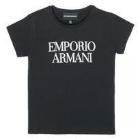 Vêtements Fille T-shirts manches courtes Emporio Armani 8N3T03-3J08Z-0999 Noir