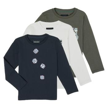Vêtements Garçon T-shirts manches longues Emporio Armani 6H4D01-4J09Z-0564 Multicolore