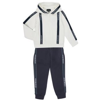 Vêtements Garçon Ensembles de survêtement Emporio Armani 6H4V02-1JDSZ-0101 Marine / Blanc