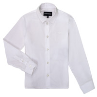 Vêtements Garçon Chemises manches longues Emporio Armani 8N4CJ0-1N06Z-0100 Blanc
