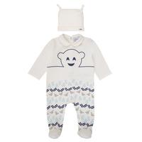 Vêtements Garçon Pyjamas / Chemises de nuit Emporio Armani 6HHV08-4J3IZ-0101 Blanc / Bleu