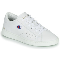 Chaussures Femme Baskets basses Champion COURT CLUB PATCH Blanc / Beige